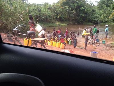 Wasserstelle in Ghana